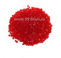 Рубка PRECIOSA размер 9/0 (2 мм) арт. 90070 красный прозрачный, упаковка 10 грамм Чехия 09R90070 - 99 бусин