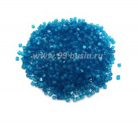 Рубка сатиновая Чехия размер 9 (2 мм) арт. 65021 синие тона упак. 10 грамм 09b65021 - 99 бусин