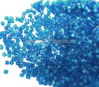 Рубка сатиновая Чехия размер 9 (2 мм) арт. 65021 синие тона, упаковка 50 грамм 09b65021B - 99 бусин