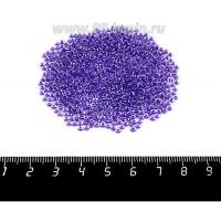 Бисер Чехия, прозрачный, бесцветный хрустальный, фиолетовое отверстие, размер 10, арт. 38928, 10 гр 10b38928 - 99 бусин