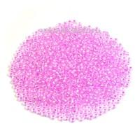 Бисер Чехия PRECIOSA прозрачный радужный, светло-розовое отверстие, размер 10, арт. 58526, 10 грамм 10b58526 - 99 бусин