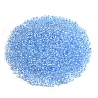Бисер Чехия PRECIOSA прозрачный хрустальный, прокрашенное отверстие, размер 10, арт. 58532 голубые тона 10 грамм 10b58532 - 99 бусин