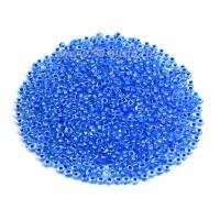 Бисер Чехия PRECIOSA прозрачный радужный, прокрашенное отверстие, размер 10, арт. 58536 тёмно-голубые тона 10 грамм 10b58536 - 99 бусин