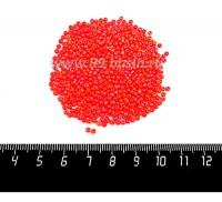 Бисер Чехия, непрозрачный с радужным блеском, размер 10, арт. 94140,  оранжевые тона, 10 гр/упаковка 10b94140 - 99 бусин