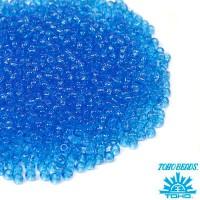 Бисер TOHO №11 цвет 0003B голубой прозрачный ЯПОНИЯ пакет 10 граммов t110003B - 99 бусин