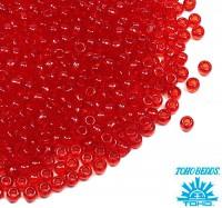 Бисер TOHO №11 цвет 0005 прозрачный красный ЯПОНИЯ пакет 10 граммов t110005 - 99 бусин