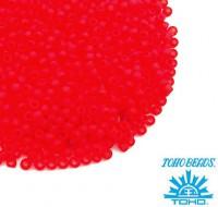 Бисер TOHO №11 цвет 0005F прозрачный красный матовый, ЯПОНИЯ пакет 10 граммов t110005F - 99 бусин