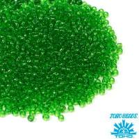 Бисер TOHO №11 цвет 0007 прозрачный зеленый ЯПОНИЯ пакет 10 граммов t110007 - 99 бусин