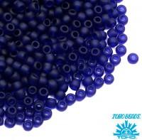 Бисер TOHO №11 цвет 0008DF прозрачный индиго матовый ЯПОНИЯ пакет 10 граммов t110008DF - 99 бусин