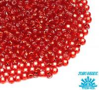 Бисер TOHO №11 цвет 0025 алый внутреннее серебрение ЯПОНИЯ пакет 10 граммов t110025 - 99 бусин
