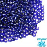 Бисер TOHO №11 цвет 0028 синий внутреннее серебрение ЯПОНИЯ пакет 10 граммов t110028 - 99 бусин