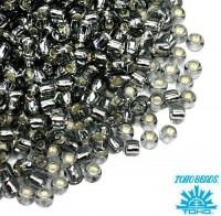 Бисер TOHO №15 цвет 0029 серый внутреннее серебрение ЯПОНИЯ пакет 5 граммов t150029 - 99 бусин