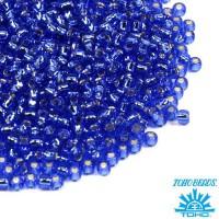 Бисер TOHO №15 цвет 0035 васильковый внутреннее серебрение ЯПОНИЯ пакет 5 граммов t150035 - 99 бусин