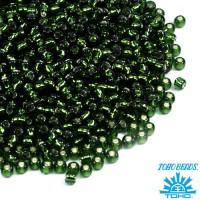 Бисер TOHO №11 цвет 0037 травяной внутреннее серебрение ЯПОНИЯ пакет 10 граммов t110037 - 99 бусин