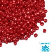 Бисер TOHO №11 цвет 0045 темно-красный непрозрачный ЯПОНИЯ пакет 10 граммов t110045 - 99 бусин