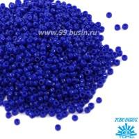 Бисер TOHO №11 цвет 0048 ярко-синий непрозрачный ЯПОНИЯ пакет 10 граммов t110048 - 99 бусин