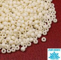 Бисер TOHO №11 цвет 0051 кремовый глянцевый ЯПОНИЯ пакет 10 граммов t110051 - 99 бусин