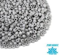 Бисер TOHO №11 цвет 0053 серый непрозрачный ЯПОНИЯ пакет 10 граммов t110053 - 99 бусин