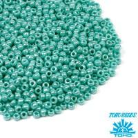 Бисер TOHO №11 цвет 0132 бирюзовый перламутр ЯПОНИЯ пакет 10 граммов t110132 - 99 бусин