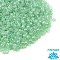 Бисер TOHO №11 цвет 0144 бледно-зеленый перламутр ЯПОНИЯ пакет 10 граммов t110144 - 99 бусин
