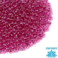 Бисер TOHO №11 цвет 0350 прозрачный хрусталь малиновое внутреннее отверстие ЯПОНИЯ пакет 10 граммов t110350 - 99 бусин