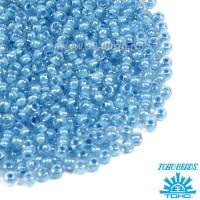 Бисер TOHO №11 цвет 0351 прозрачный хрусталь голубое внутреннее отверстие ЯПОНИЯ пакет 10 граммов t110351 - 99 бусин