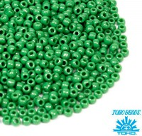 Бисер TOHO №11 цвет 047D зелёный непрозрачный ЯПОНИЯ пакет 10 граммов t11047D - 99 бусин