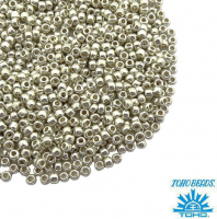 Бисер TOHO №11 цвет 0558 серебряный ЯПОНИЯ пакет 10 граммов t110558 - 99 бусин