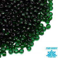 Бисер TOHO №11 цвет 0939 прозрачный темно-зеленый ЯПОНИЯ пакет 10 граммов t110939 - 99 бусин