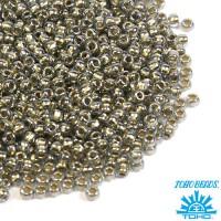 Бисер TOHO №11 цвет 0993 хрустальный светло-серый с золотым центром ЯПОНИЯ пакет 10 граммов t110993 - 99 бусин
