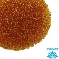 Бисер TOHO №15 цвет 0002C прозрачный медовый ЯПОНИЯ пакет 5 граммов t150002C - 99 бусин