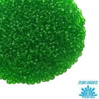 Бисер TOHO №15 цвет 0007 прозрачный зеленый ЯПОНИЯ пакет 5 граммов t150007 - 99 бусин