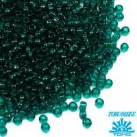 Бисер TOHO №15 цвет 0007BD изумрудный полупрозрачный ЯПОНИЯ пакет 5 граммов t150007BD - 99 бусин