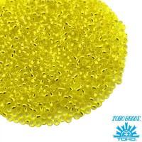 Бисер TOHO №15 цвет 32 лимонный, внутреннее серебрение ЯПОНИЯ пакет 5 граммов t150032 - 99 бусин