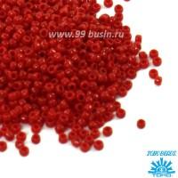 Бисер TOHO №15 цвет 0045 темно-красный непрозрачный ЯПОНИЯ пакет 5 граммов t150045 - 99 бусин