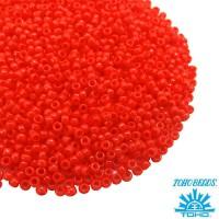 Бисер TOHO №15 цвет 50 оранжево-красный непрозрачный ЯПОНИЯ пакет 5 граммов t150050 - 99 бусин