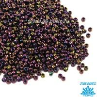 Бисер TOHO №15 цвет 0085 фиолетовый ирис ЯПОНИЯ пакет 5 граммов t150085 - 99 бусин