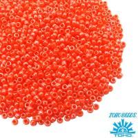 Бисер TOHO №15 цвет 129 оранжевый/перламутр ЯПОНИЯ пакет 5 граммов t150129 - 99 бусин