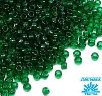 Бисер TOHO №15 цвет 0939 тёмно-зелёный полупрозрачный ЯПОНИЯ пакет 5 граммов t150939 - 99 бусин