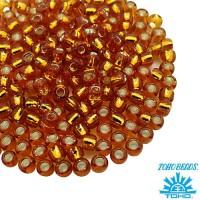 Бисер TOHO №8 цвет 22C медовый внутреннее серебрение ЯПОНИЯ пакет 10 граммов t80022C - 99 бусин