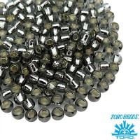 Бисер TOHO №8 цвет 29 серый внутреннее серебрение ЯПОНИЯ пакет 10 граммов t80029 - 99 бусин